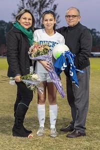 Cornerstone Charter Academy Varsity Soccer Honors Senior Emely Hernandez (#6) 2017-18