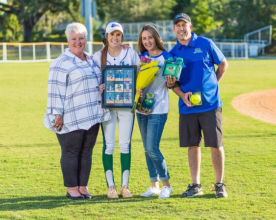 Cornerstone Charter Academy Women's Softball Senior Honors 2018