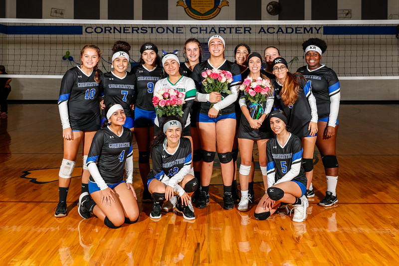 HS Volleyball: Cornerstone Charter Honor Seniors