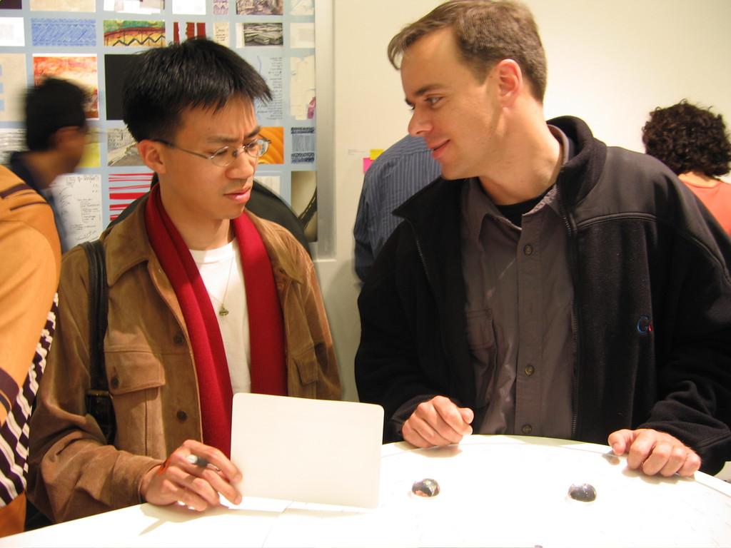 2005 05 12 Thursday - Yu & Hoomes @ Dan Shafer's graduation art exhibit
