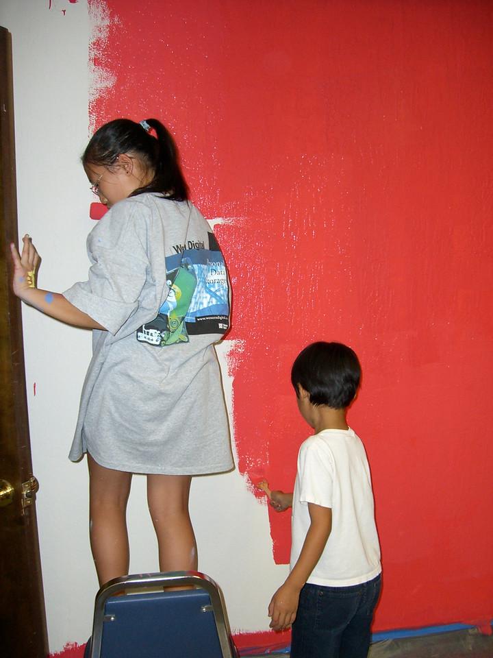 Kids paint a classroom 1