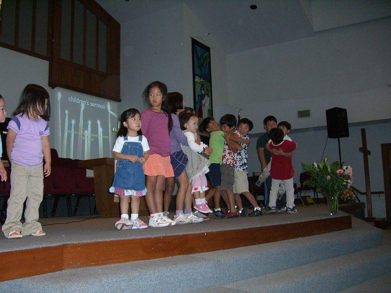 2005 09 18 Sun - Children's Message 2 - bouncers