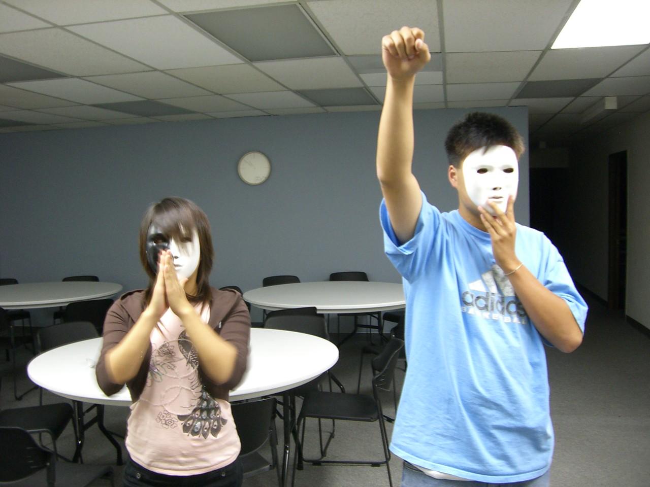 2006 06 16 Fri - Shinae Kim & Isaac Choi rehearsing 'King of Hearts'