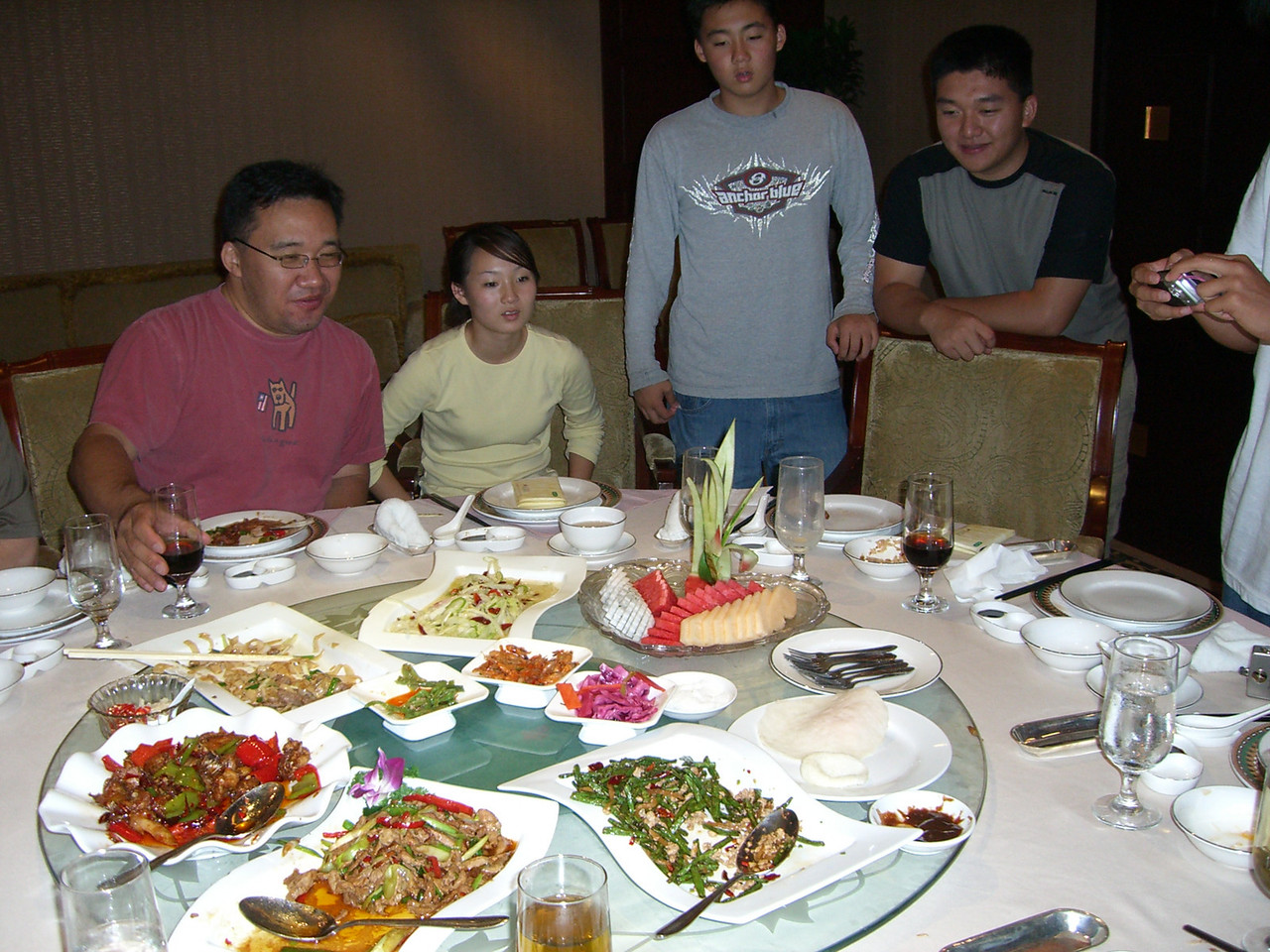 2006 07 14 Fri - Bird fruit plate 1