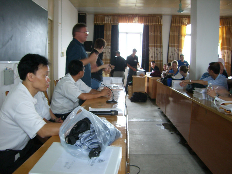 2006 07 17 Mon - First day of introductions at Yao Zhong high school 2
