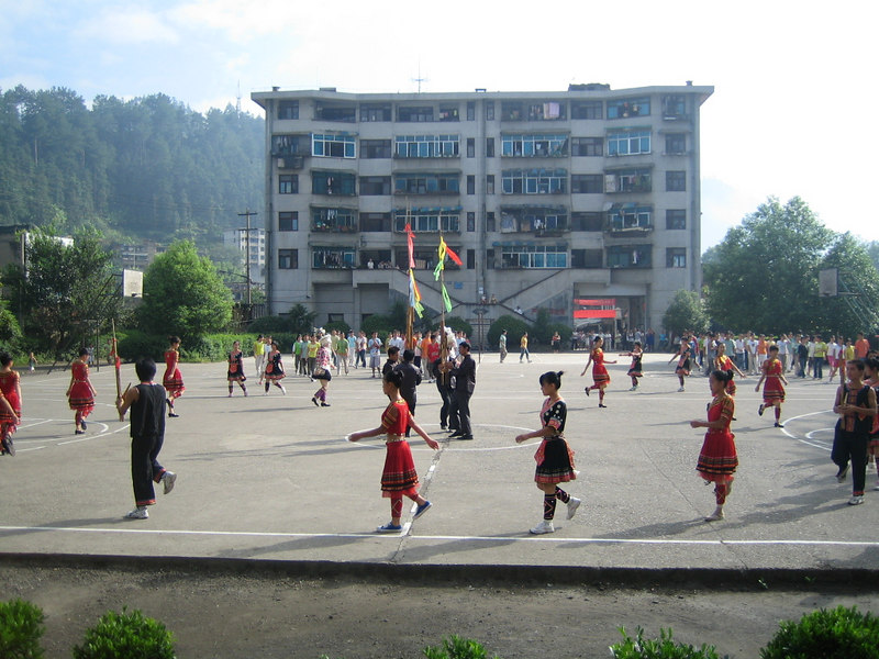 2006 07 31 Mon - Jian He high school traditional Miao people's welcome ceremony 8