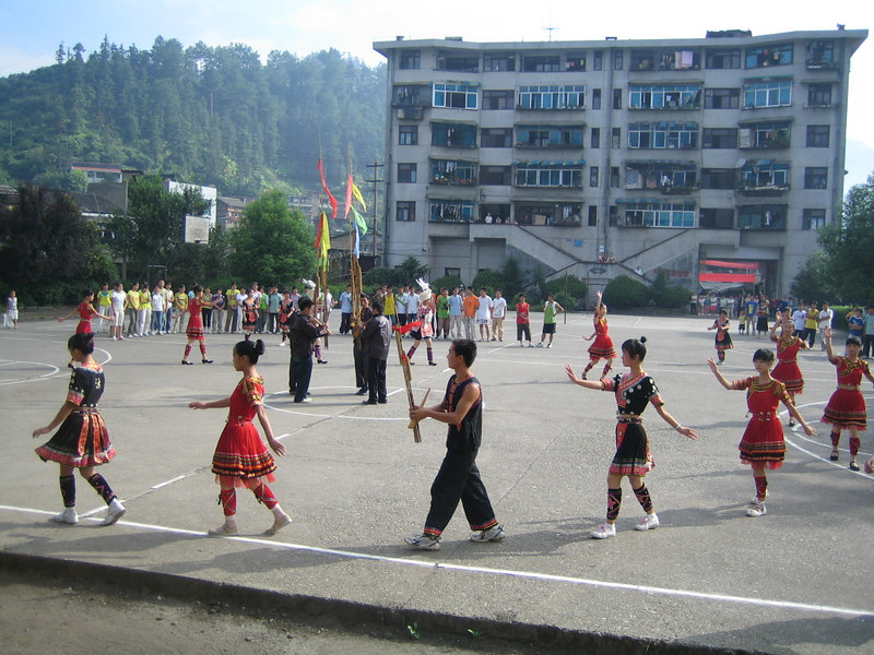 2006 07 31 Mon - Jian He high school traditional Miao people's welcome ceremony 10