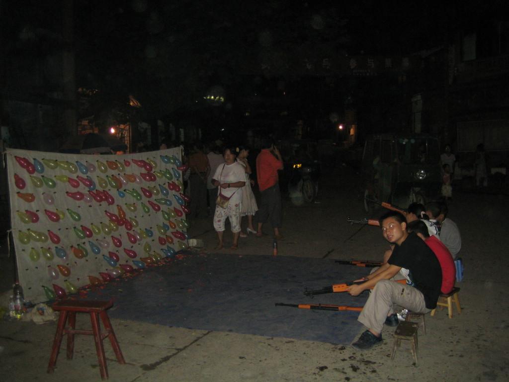 2006 07 30 Sun - Main intersection of Jian He nightly games setup