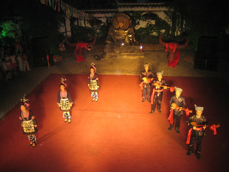 2006 07 29 Sat - Miao people cultural presentation @ restaurant in Kaili