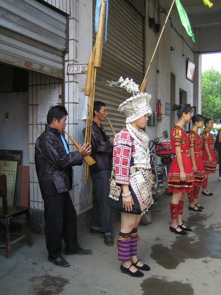 2006 07 31 Mon - Jian He high school traditional Miao people's welcome ceremony 4