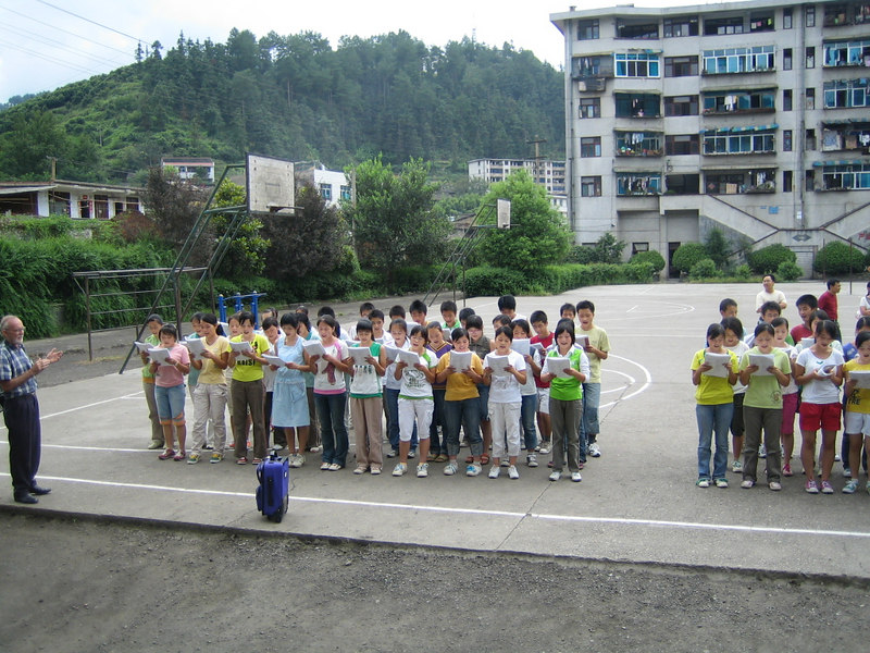 2006 07 31 Mon - Jian He high school first assembly - class 3