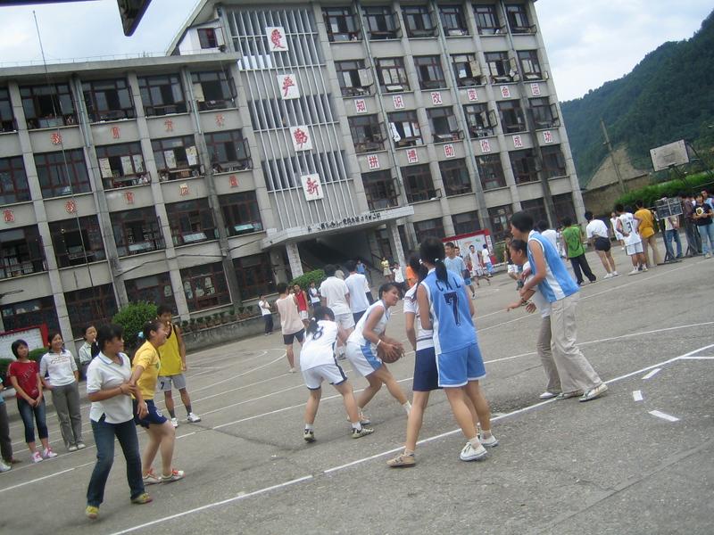 2006 08 03 Thu - Class 1 vs  class 2 girls bball game