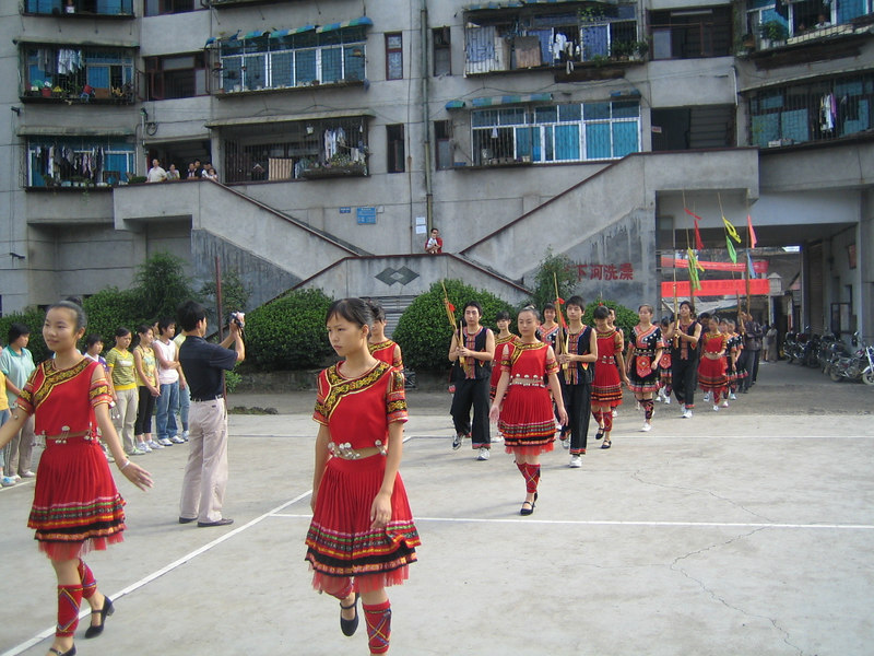 2006 07 31 Mon - Jian He high school traditional Miao people's welcome ceremony 5