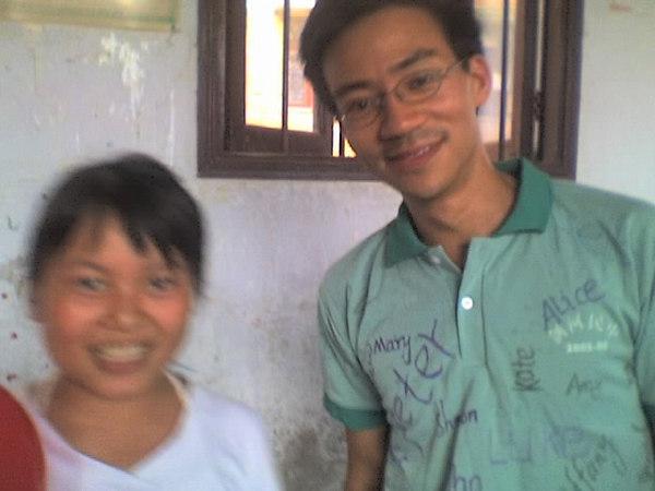 2006 08 08 Tue - Last class hangout - Blurry Angela & Ben Yu