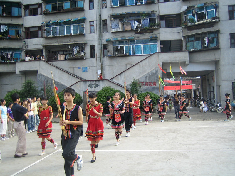 2006 07 31 Mon - Jian He high school traditional Miao people's welcome ceremony 6