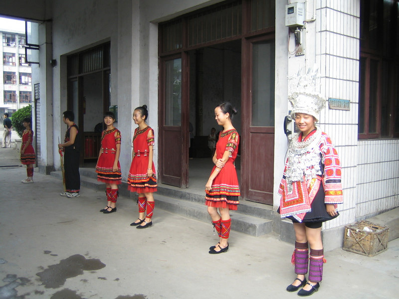 2006 07 31 Mon - Jian He high school traditional Miao people's welcome ceremony 3