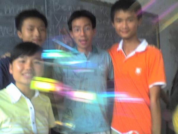 2006 08 08 Tue - Last class hangout - Leslie, Mark, Ben Yu, & Jack