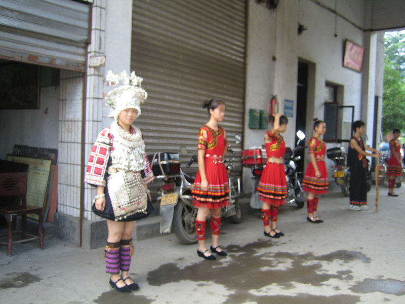 2006 07 31 Mon - Jian He high school traditional Miao people's welcome ceremony 2