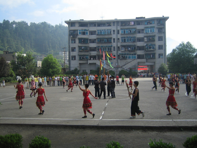 2006 07 31 Mon - Jian He high school traditional Miao people's welcome ceremony 9