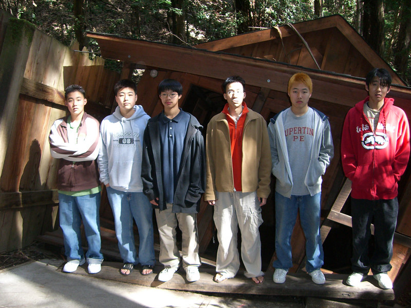2006 04 20 Thu - Who's tallest - Philip Lee, Isaac Choi, Jeremy, Ben Yu, Mark Choi, Marc Rowe