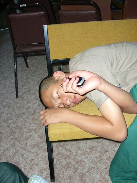 2006 07 08 Sat - Doug Kang sleeping