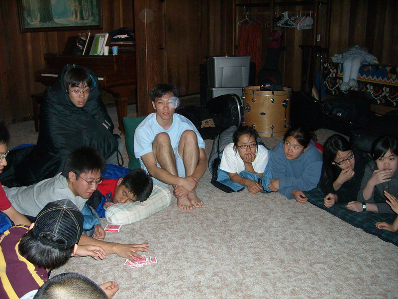 2006 07 09 Sun - Playing Mafia - Doug Kang, Mak Oh, Jimmy, Junghan Kim, Paul Kang, James Lee, Fiona's friend, Shinae Kim, Esther, & Angela's cousins