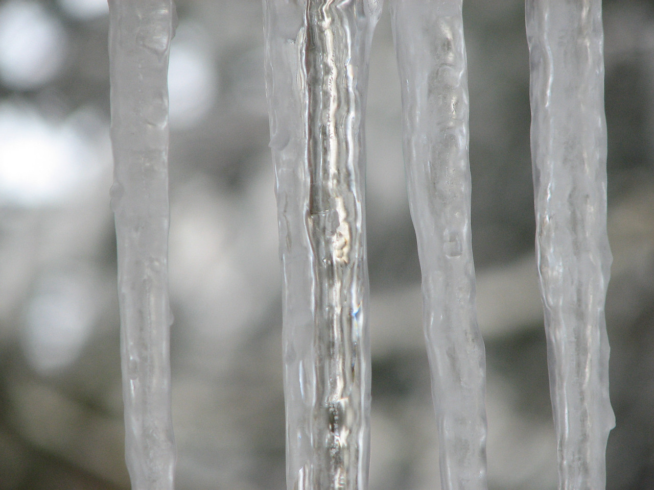 2006 12 23 Sat - Icicles 1 - close up fore focus