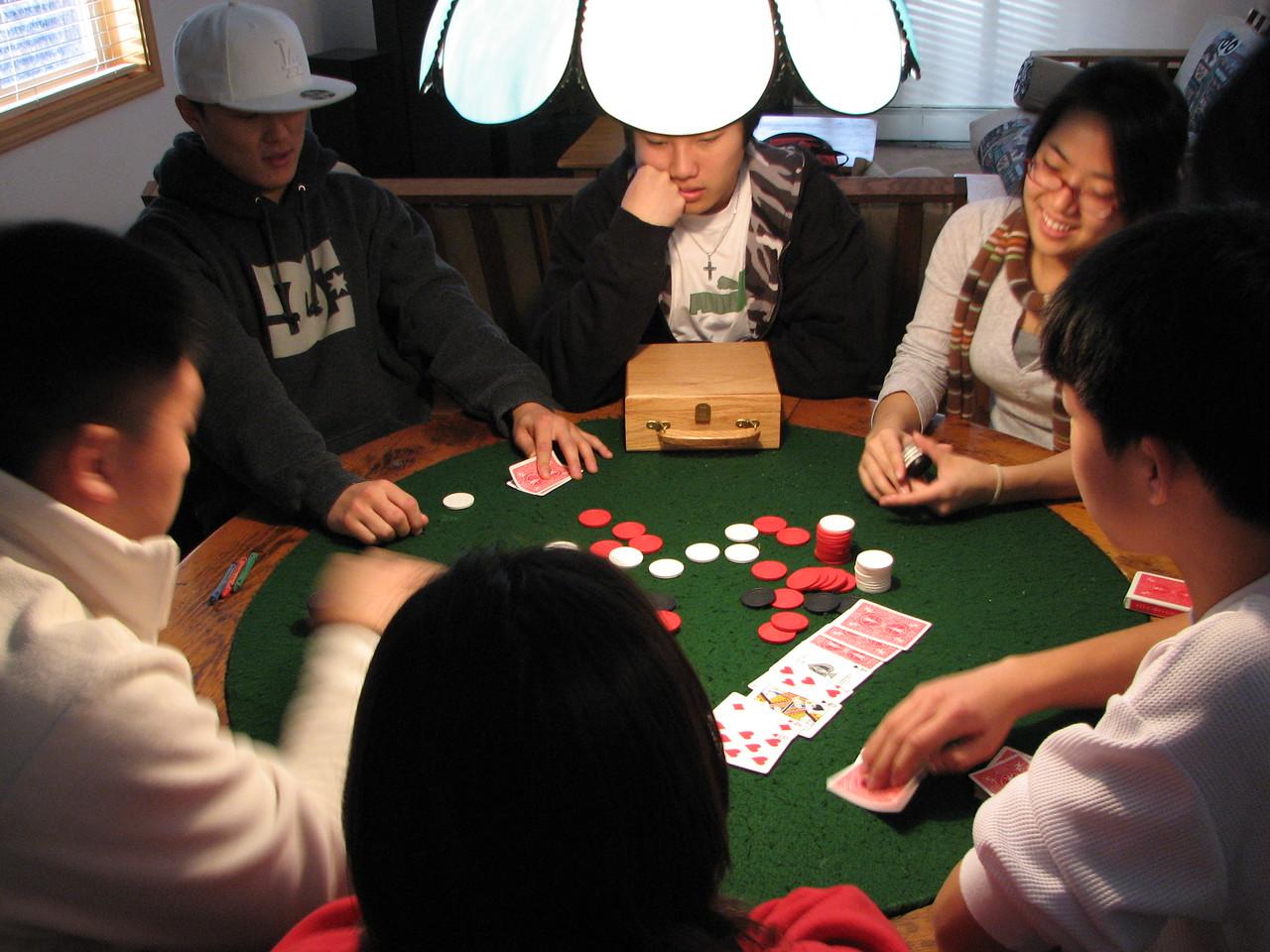 2006 12 20 Wed - Dan Tung, Ted Hong, Mark Choi, Shinae Kim, & Jay Lee hold 'em Texas