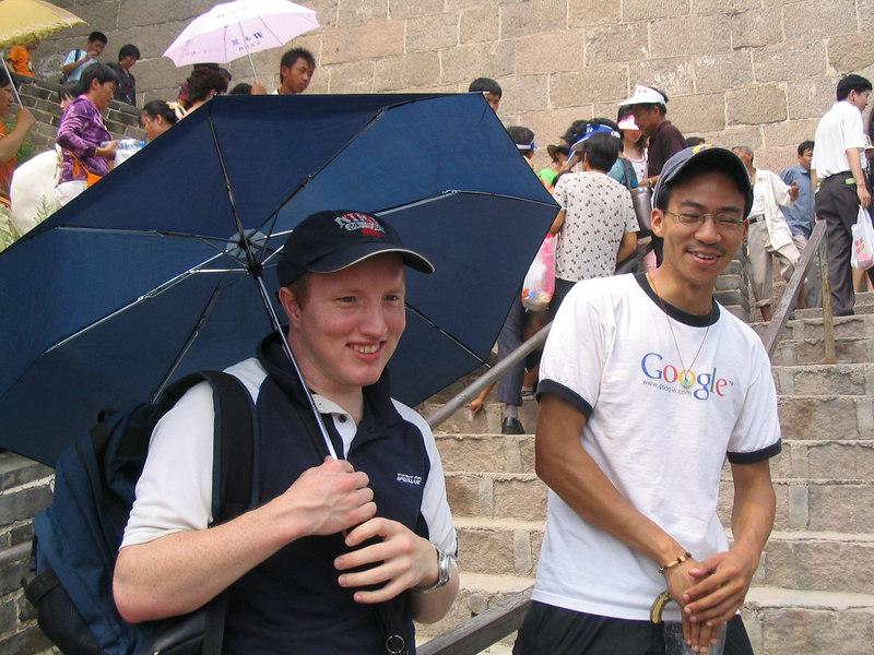 2006 08 18 Fri - Roland & Ben Yu @ The Great Wall