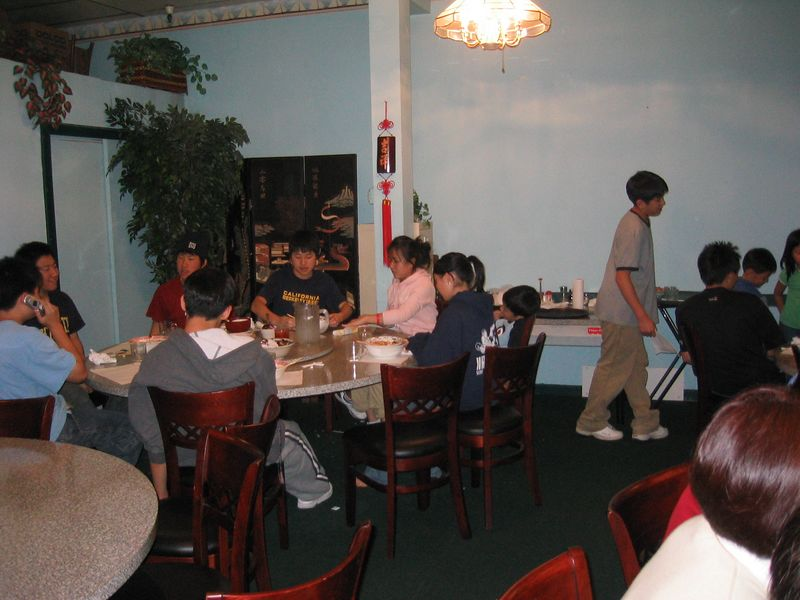2005 04 17 Sunday - CCSV dinner with Pastor Kim 2