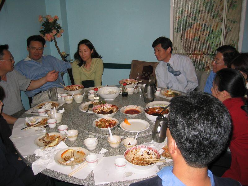 2005 04 17 Sunday - CCSV dinner with Pastor Kim 1