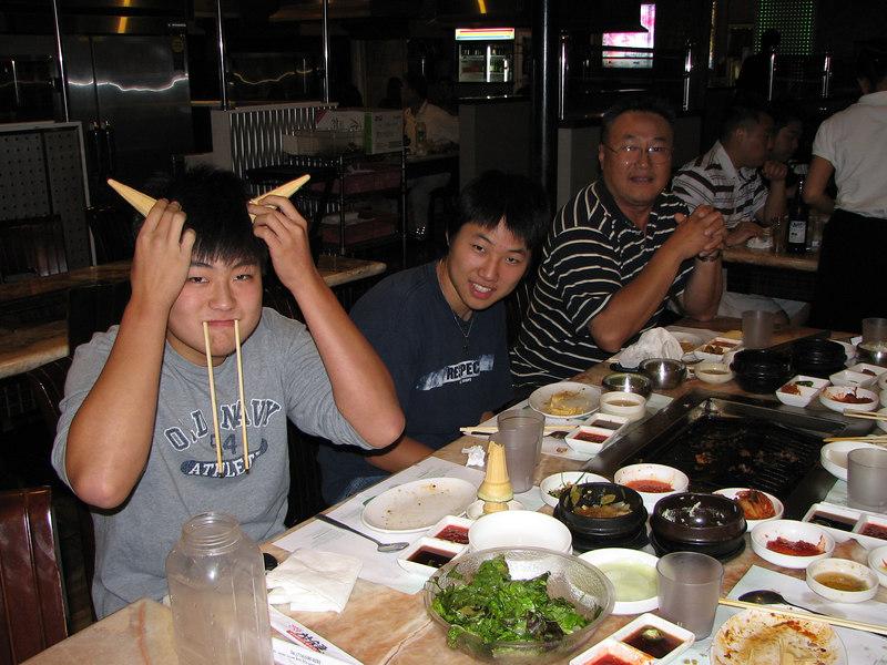2006 09 15 Fri - Goofballs Isaac, Mark, & Soojin Choi 1