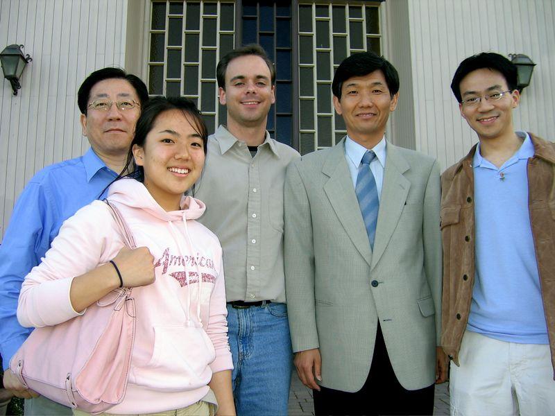 2005 04 17 Sunday - Baxon Kim, Shinae Kim, Pastor Hyun-Jin Kim, Ben Yu