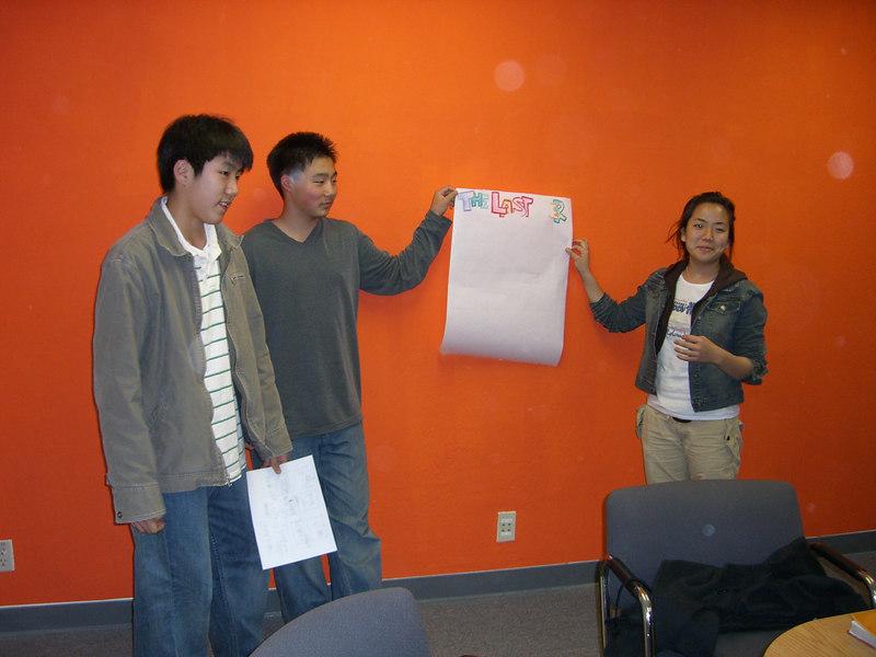 2006 03 17 Fri - Youth Group posters - Paul Kang, Philip Lee, & Shinae Kim 1
