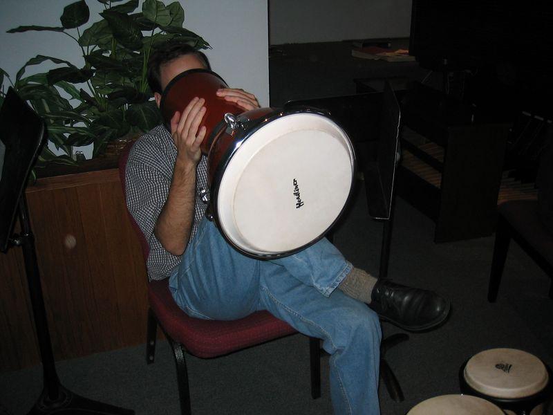 2005 02 06 Sunday - Ben Hoomes djembe nosejob