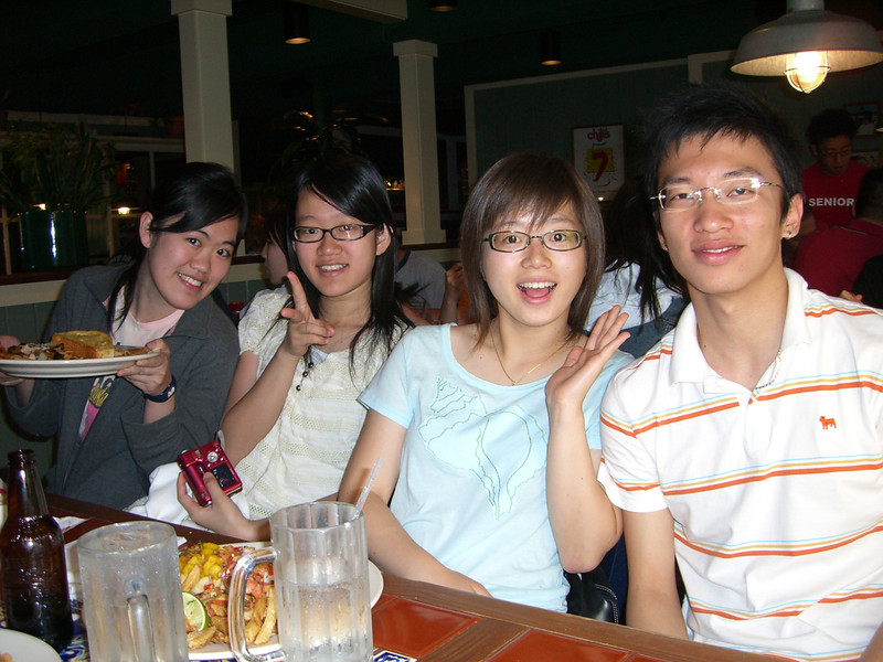 2006 07 09 Sun - Angela's cousins, Soyeon Park, & Jimmy Lee @ Ben Yu's Chili's farewell dinner