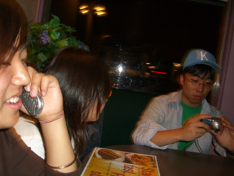2006 06 27 Tue - Shinae Kim, Angela Hsu, & James Lee @ Denny's