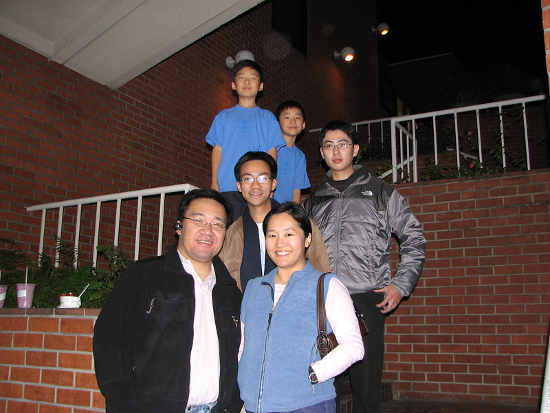 2007 02 21 Wed - The Lee's, Ben Yu, & visiting from Taiwan cousin Shan Zen Yang @ UCLA Pinkberry 1