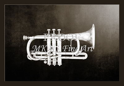 Monochrome Antique Cornet 219.2064