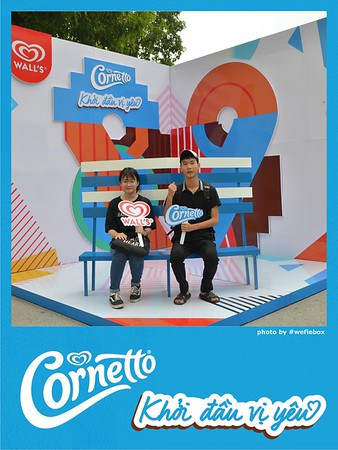 """Cornetto """"Khởi đầu vị yêu"""" GIF Photobooth - Chụp hình in ảnh lấy liền Sự kiện"""