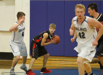 Corning High takes on Orland basketball on the first night of the Herb Jergentz Tournament December 1, 2016 at Durham High School in Durham, California. (Emily Bertolino -- Enterprise-Record)