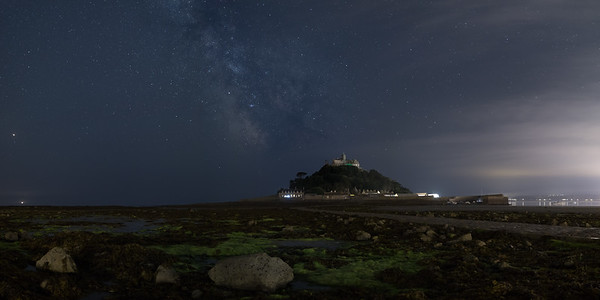 Milky Way over St Michaels Mount, Mounts Bay Cornwall - 4