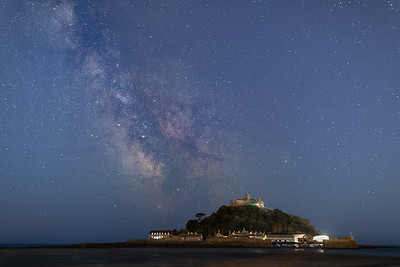 Milky Way Galactic Core over St Michaels Mount