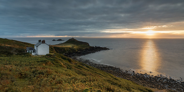 Sunset on the White Cottage at Cape Cornwall - 1