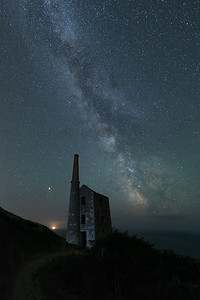 The Milkys Way Galactic Core over Wheal Prosper Tin Mine, Cornwall - 2