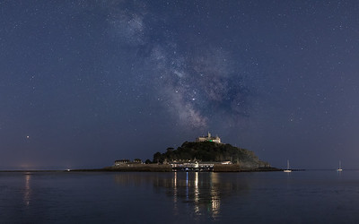 Milky Way over St Michaels Mount, Mounts Bay Cornwall - 3
