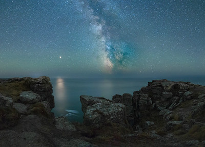Milky Way off Land's End, Cornwall - 1