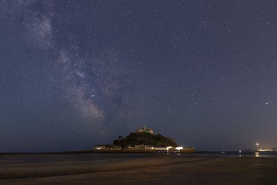 Milky Way over St Michaels Mount, Mounts Bay Cornwall - 1