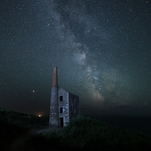 The Milkys Way Galactic Core over Wheal Prosper Tin Mine, Cornwall