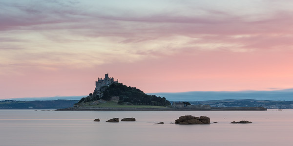 Sunset over St Michaels Mount